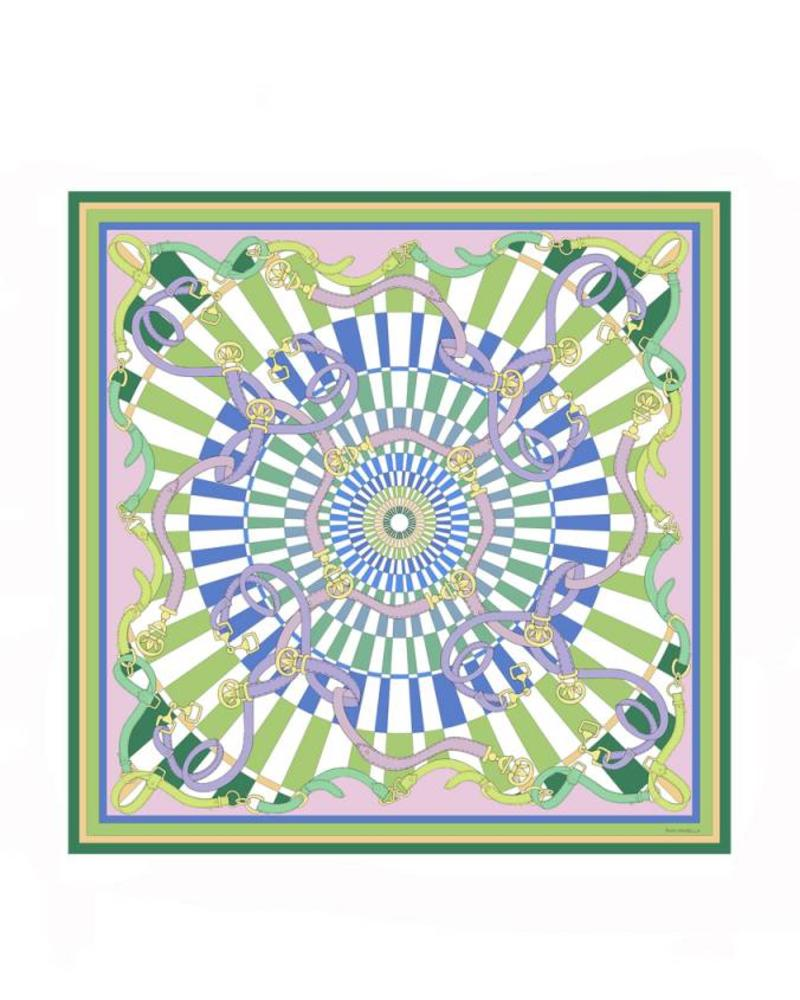 PRINTED CASHMERE SCARF: FIRENZE : LIME