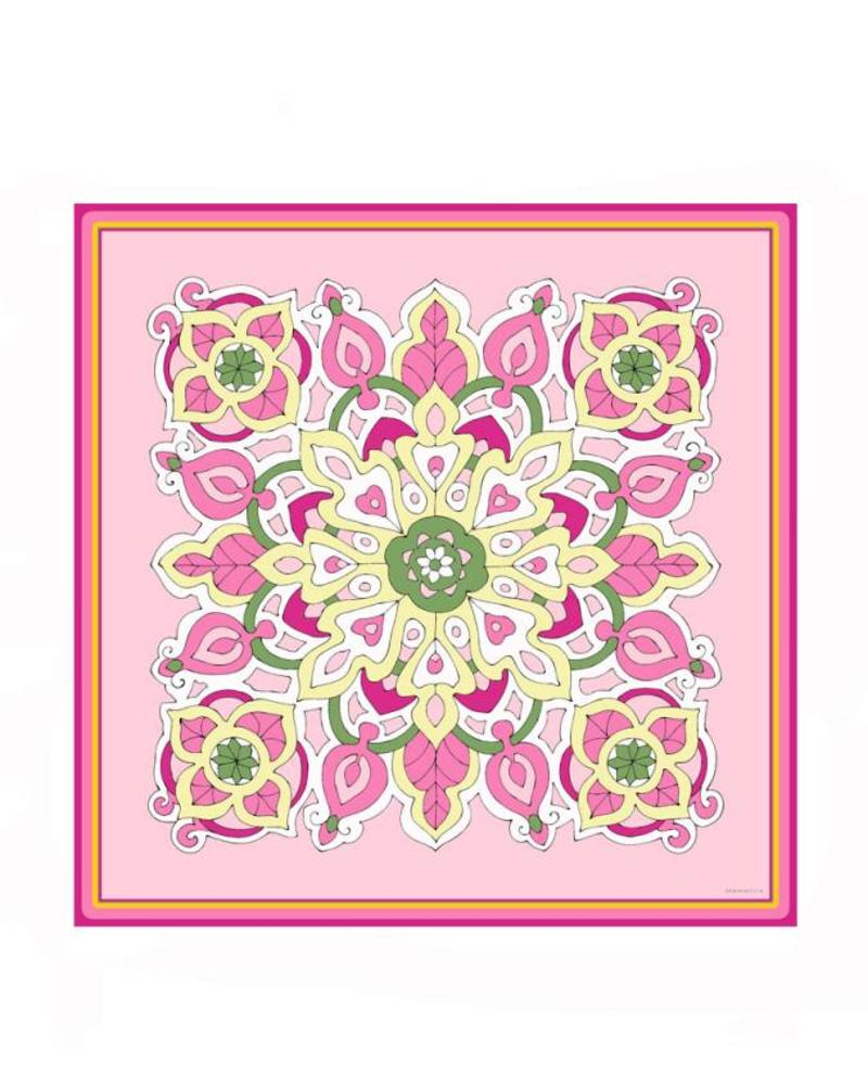 PRINTED CASHMERE SCARF: SAVOIA: PINK