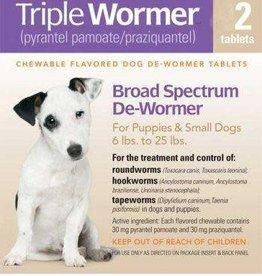 DURVET TRIPLE WORMER PUPPY & SM DOG 2CT DURVET 6/BX 12/CS
