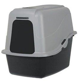 DOSK CAT  Litter PAN W/HOOD BASIC BLK/GRY LG