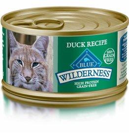 BLUE BUFFALO CAT CAN WILDERNESS ADULT DUCK ENTREE 3oz/24