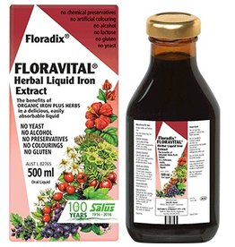 Floradix Floravital Iron & Herb yeast free 17 oz