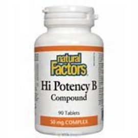 Natural Factors Hi Potency B Compound 50 mg Natural Factors- 90 tabs