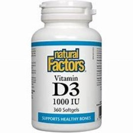 Natural Factors Vitamin D3 1000 IU Natural Factors- 360 sgels