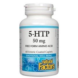 Natural Factors 5-HTP 50mg 60 enteric coated caplets