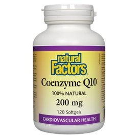 Natural Factors Coenzyme Q10 200mg  60sgels