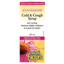 Natural Factors Cold & Cough Syrup (honey base) 150ml