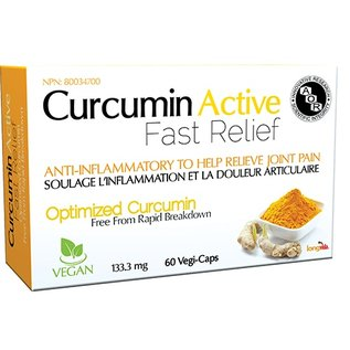 AOR Curcumin Active Fast Relief 60 VCaps 133.3mg