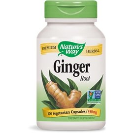 Nature's Way Ginger 100 Capsules 550mg