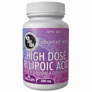 AOR High Dose R-Lipoic Acid 60 Vcaps 300mg