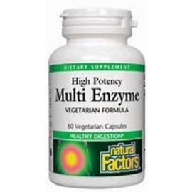Natural Factors High Potency Multi Enzyme Vegetarian Formula 60/VCAP