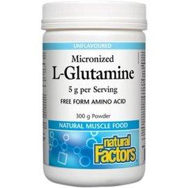 Natural Factors L-Glutamine powder unflavored 300g 5g per serving