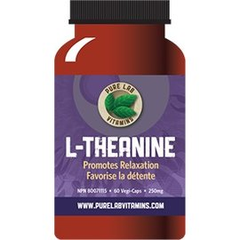 Pure Lab Vitamins L-Theanine 125mg 60 chew tabs