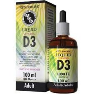 AOR Liquid Vitamin D3 1000IU 100ml Adult 500 doses