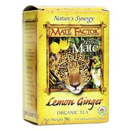 Mate Factor Yerba Mate Lemon Ginger Tea 20 bags
