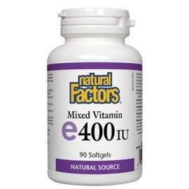 Natural Factors Mixed Vitamin E 400IU 90's