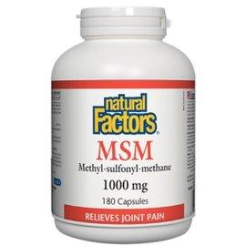 Natural Factors MSM 1,000 mg 180/CAP