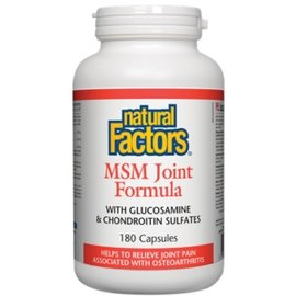 Natural Factors MSM Joint Formula 180 capsules