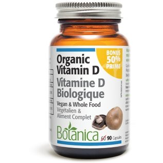 Botanica Vegan Organic Vitamin D 1000IU 45caps