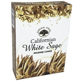 Green Tree Candle Company California White Sage Incense cones 10pk