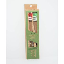 Planete Bambou 2-Pack Bamboo toothbrushes - adult soft