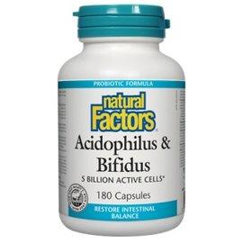 Natural Factors Acidophilus & Bifidus 5-billion active cells 90/CAP