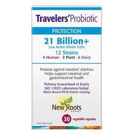 New Roots Traveler s Probiotic 21b 12strains 30vcaps