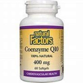 Natural Factors Coenzyme Q10 400mg  60gels