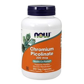 Now Chromium Picolinate 200mcg 100cap