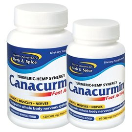 NORTH AMERICAN HERB & SPICE Canacurmin Fast Acting 500mg 60 caps