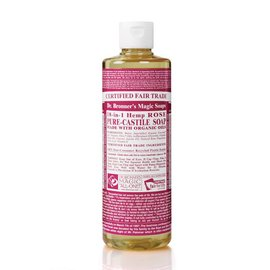 Dr. Bronner Rose Castille Liquid Soap 16 OZ