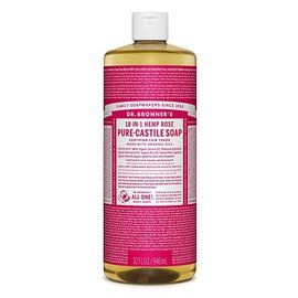 Dr. Bronner Org Rose Oil Castile Soap 946ml