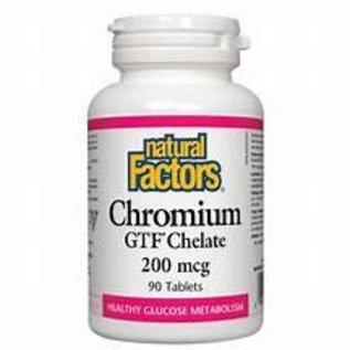 Natural Factors Chromium GTF Chelate 200 mcg