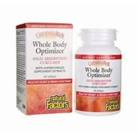 Natural Factors CurcuminRich Whole Body Optimizer 60/SG