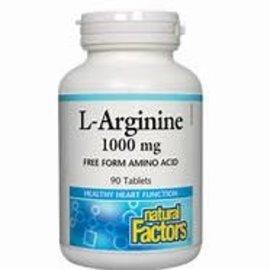 Natural Factors L-Arginine 1,000 mg 90/TAB