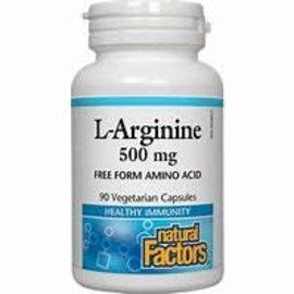 Natural Factors L-Arginine 500 mg 90/VCAP