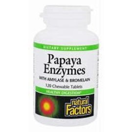 Natural Factors Papaya Enzyme Chewable 60/TAB