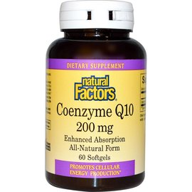 Natural Factors Coenzyme Q10 200 mg 120s