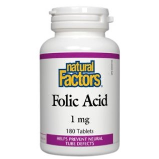 Natural Factors Folic Acid 1gr 180 tabs