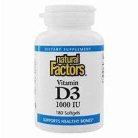 Natural Factors Vitamin D3 1,000 IU 180/TAB