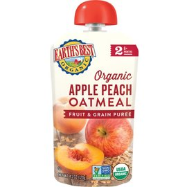Earth's best organic Organic Apple, peach Oatmeal
