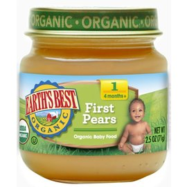 Earth's best organic Pears 4+months 128ml