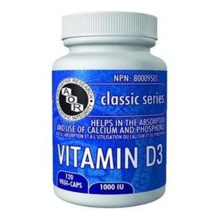 AOR Vitamin D3 1000Iu 120vcaps
