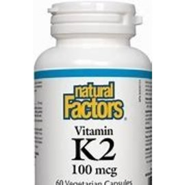Natural Factors Vitamin K2 100mcg MK-7 from Natto bean 120vcaps