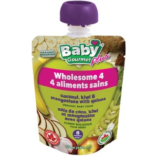 Organic Baby Gourmet Wholesome 4 coconut, kiei & mangosteen with quinoa 8+months 128ml