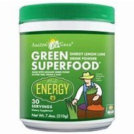 Amazing Grass Lemon Lime Energy Green SuperFood 210g