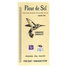 Hummingbird Chocolate Fleur de Sel Chocolate bar