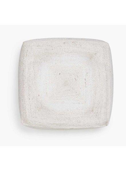Woven Floor Pillow 60cm x 60cm, White