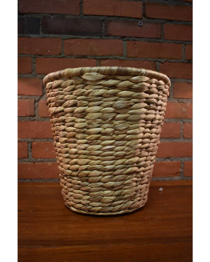 Round Hyacinth Waste Basket