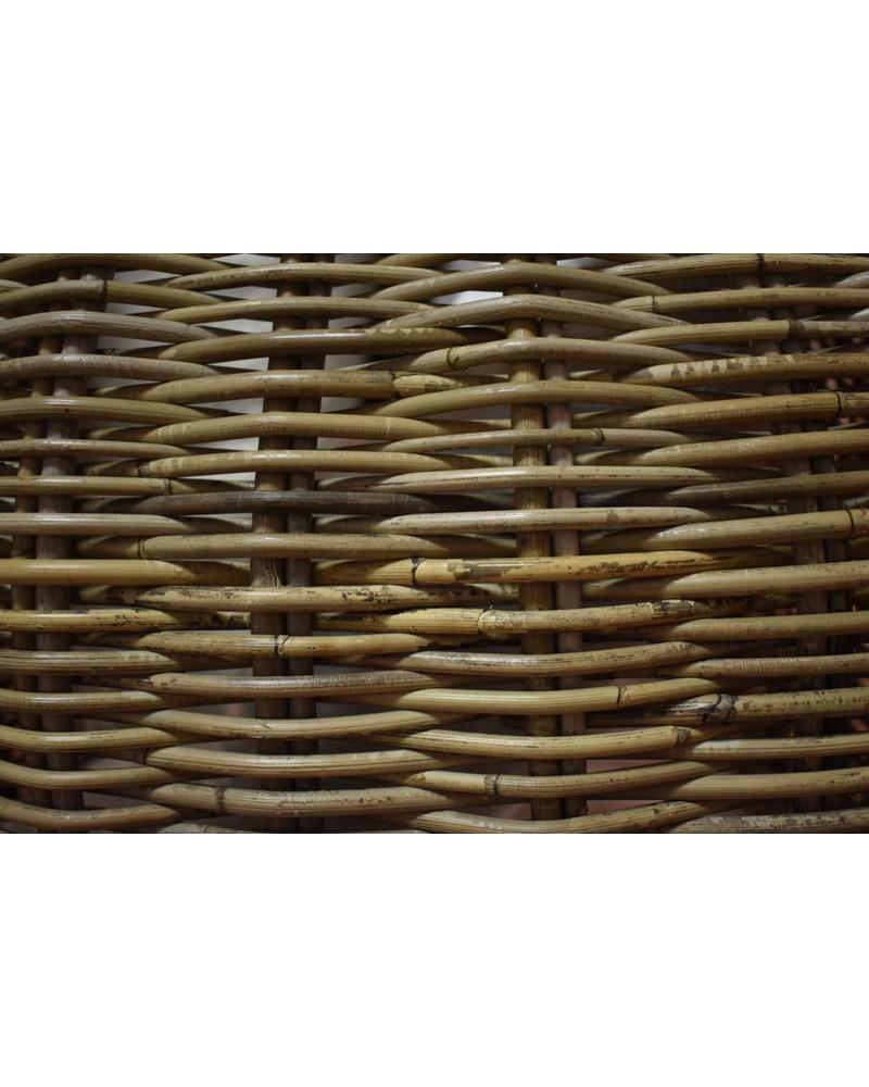 ... Square Rattan Storage Basket W/ Handles, Kooboo Grey